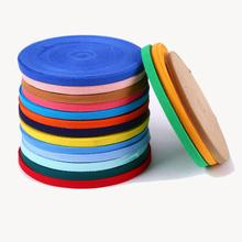 50Yards/Roll 10mm Cotton Ribbon DIY Webbing Herring Bonebinding Tape Lace Trimming For Packing Accessory 38 Colors