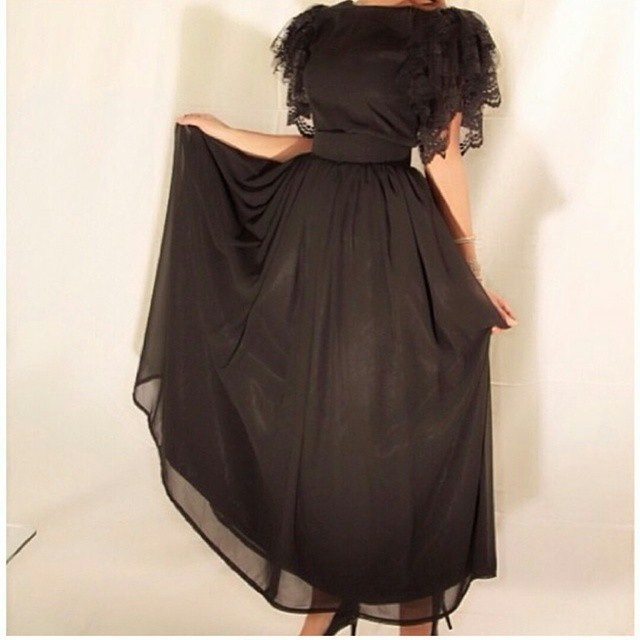 2018 Robe De Soiree Fashion Lace Short Sleeve A Line Black Floor Length Evening Party Prom Gown Mother Of The Bride Dresses