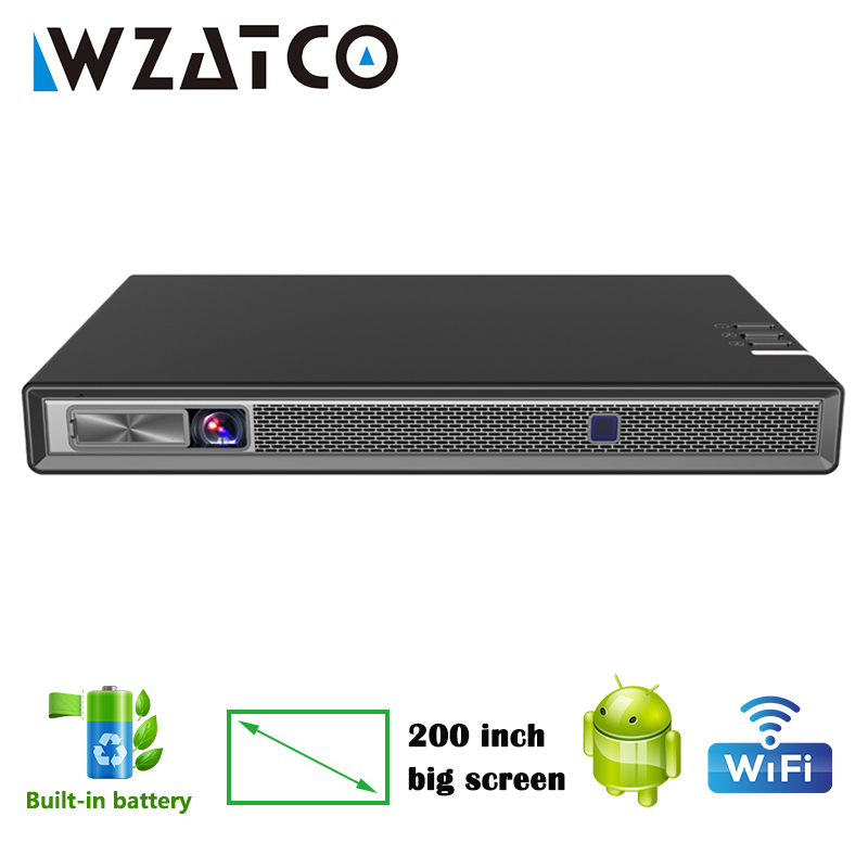 WZATCO T5 MINI DLP Projector 4K 5G 200inch WIFI Smart Android for Home Theater Beamer Full HD 1080P Portable 3D Projector Beamer(China)