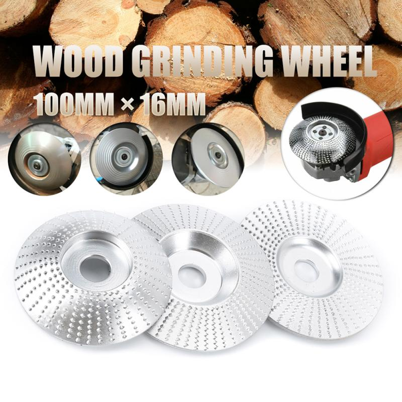 100x16mm Carbide Wood Grinding Wheel Carving Sanding Disc Woodworking Abrasive Tools For Wooden Angle Grinding Polishing Wheel