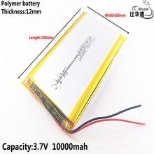 2 \ 3 \ 4 \ 6 sztuk/partia dobra Qulity 3.7V,10000mAH,1260100 polimerowy akumulator litowo jonowy/litowo jonowy do TOY,POWER BANK,GPS,