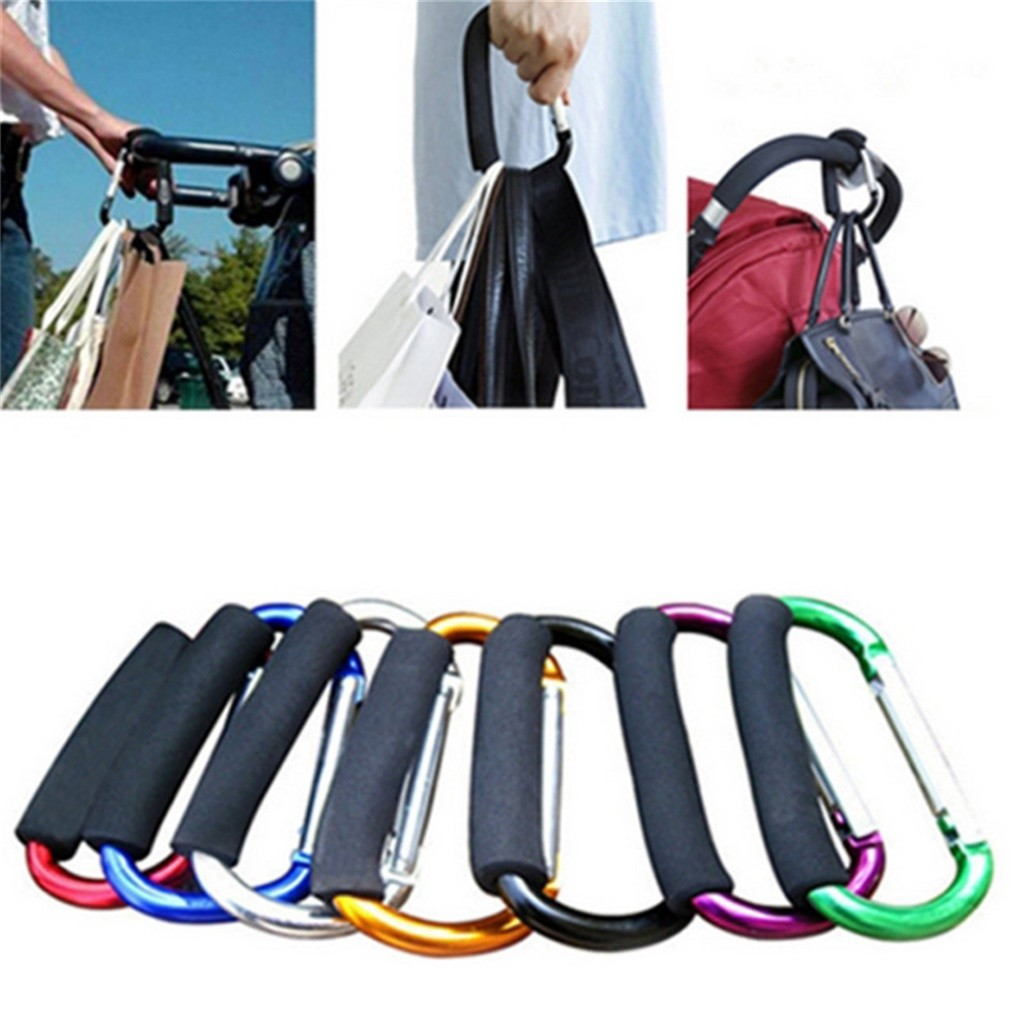 Large Carabiner Aluminum Alloy Hook D Big Nut Buckle High Strength Carabiner Key Chain Clip Outdoor Camping Keyring Snap Hook