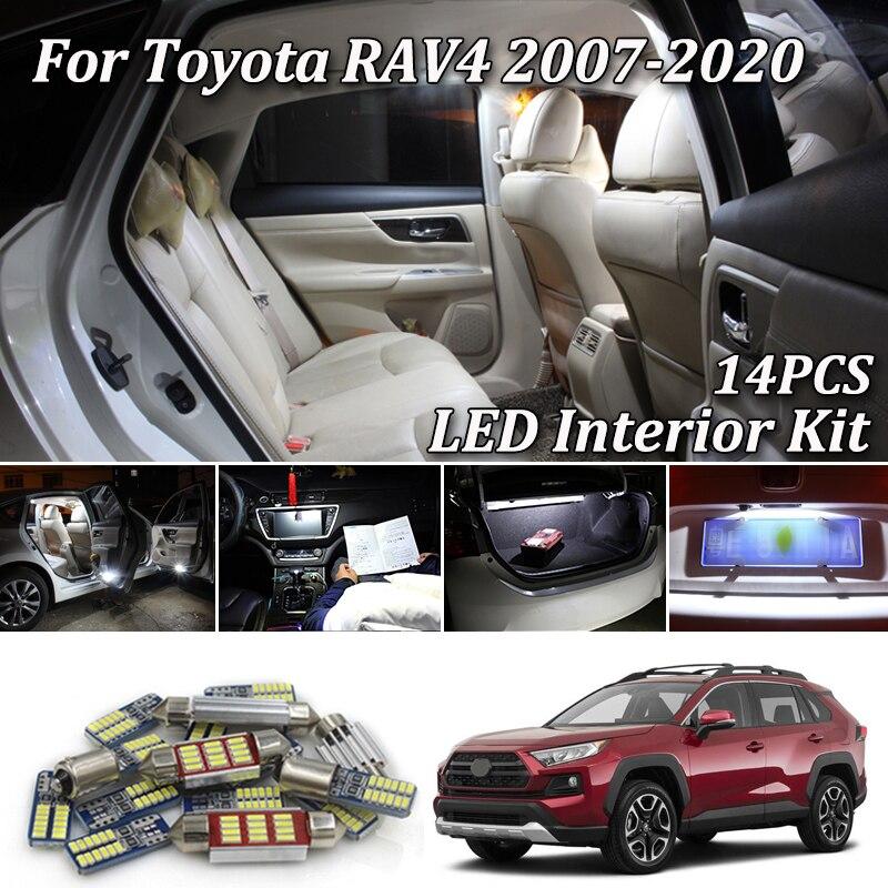 For 2006-2013 2014 2015 Toyota RAV4 LED Lights Interior Package Kit BLUE 8PCS