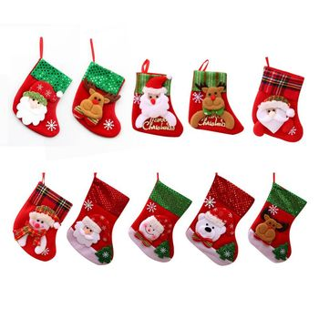 Cute Christmas Decoration Pendant Warm Socks Earmuffs Snowman Elk Santa Bear image