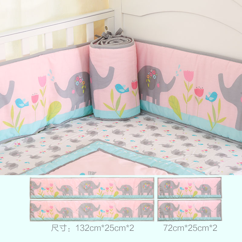 4 Pcs Crib Bumpers Pads For Baby Boy And Girl Protection Use