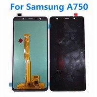 6Original LCD Screen For Samsung Galaxy A7 2018 A750 LCD Display For Samsung A750 Assembly Screen Display For Samsung A7 2018