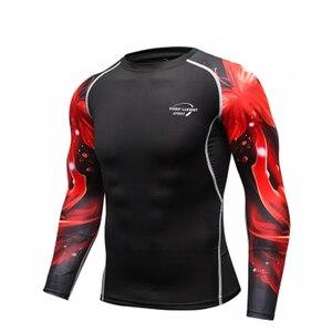 Image 4 - Mans spor eğitimi egzersiz T shirt erkek moda spor koşu gömlek Casual erkek giyim T Shirt erkek T shirt hızlı kuru