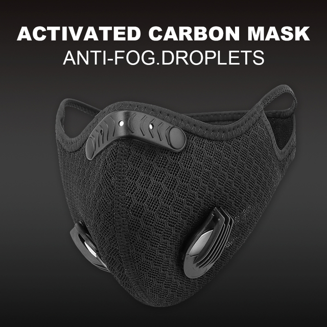 X-TIGER Cycling Face Mask PM 2.5 Bike Mask Activated Carbon Breathing Valve Sports Masks With Anti-Pollution Filter 2