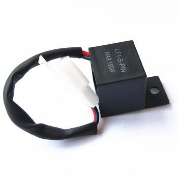 12A 2Pin elektroniczny ledowy przekaźnik migania do motocykla sygnał skrętu motocykla Hyper Flash tanie i dobre opinie AOZBZ LED Flasher Plastic Durable and eco-friendly 2 5cm