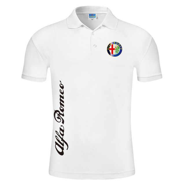 Cho Alfa Romeo Logo Áo Nam Mùa Hè Áo Thun Tay Ngắn In Máy Cotton Mùa Xuân Nam Của Polo H