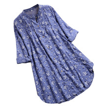 Womens Long Loose Blouses Stand Collar Pleated Floral Print Women Tops Long Sleeve Shirt Casual Tops Blouse Plus Size Blusas womens plus size roll up long sleeve metallic pineapple printed stand collar blouse button down v neck casual loose tops