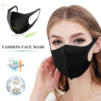Black Mouth Mask Anti Dust Mask Windproof Mouth-muffle Reusable Washable Dust Proof Soft Face Mask Breathable Mouth Cover фото
