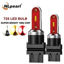 Nlpearl 1x Signal Lamp T25 3157 3156 P27W P27/7W Led Bulb CSP 1860SMD T20 7443 Led W21 5w 7440 W21W Reverse Brake Light 12V-24V