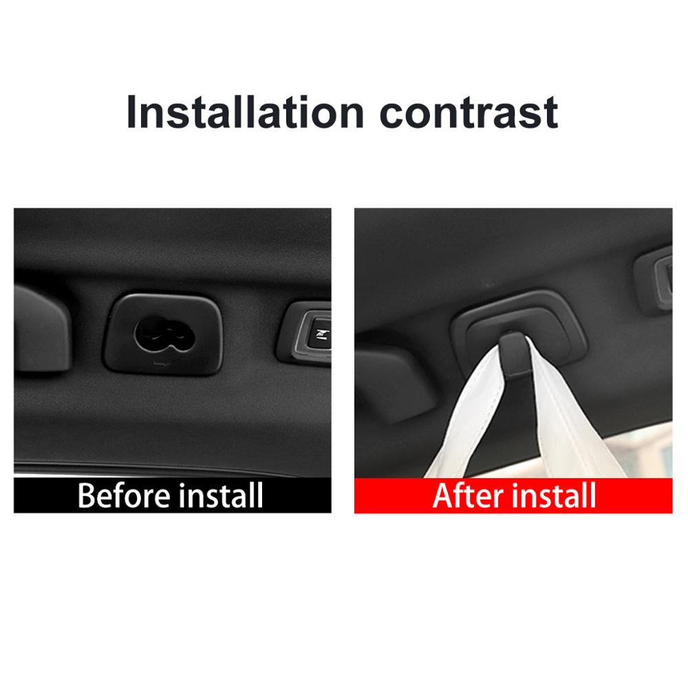 Car Accessories For VOLVO XC60 2018-2020 XC90 XC40 V40 2015-2020 V90 S90 2016-2020 Roof Hooks Clothes Hanger Hook Trim Interior