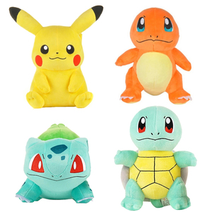 pikachued plush doll Bulbasaur Charmander Squirtle Psyduck Eevee Jigglypuff Popplio Piplup Snorlax stuffed toy gifts for kids