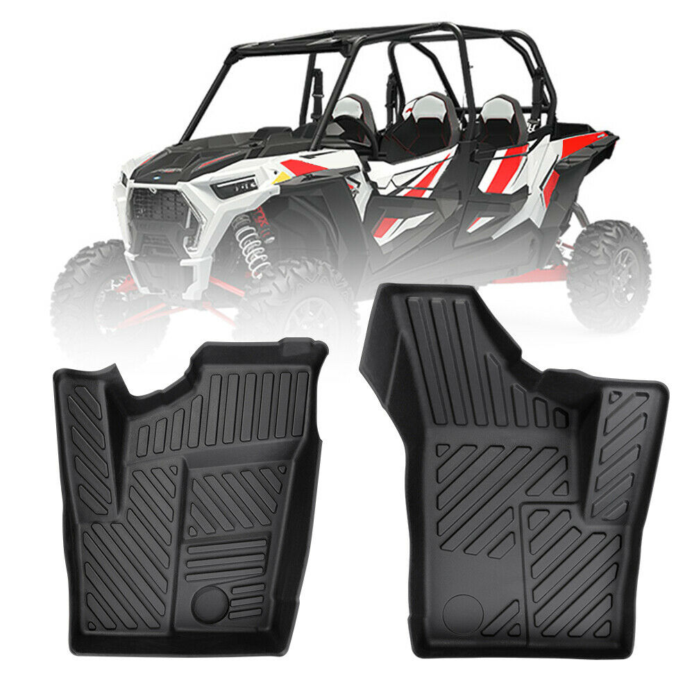 UTV All Weather Rubber Front Floor Liner Protector Mats For Polaris RZR XP 1000 2014-2019 2015 2016 2017 2018 Floor Mats Pad Set