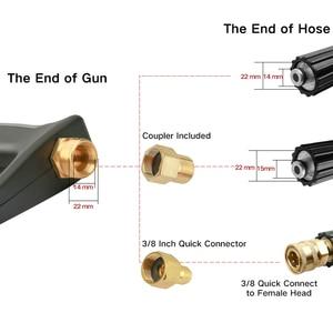 Image 2 - Высокая пистолет для мойки под давлением мощный пистолет распылитель 4000psi с 19 дюймов Расширение Замена палочка копье, 5 Быстрая Соединительная насадка Лидер продаж