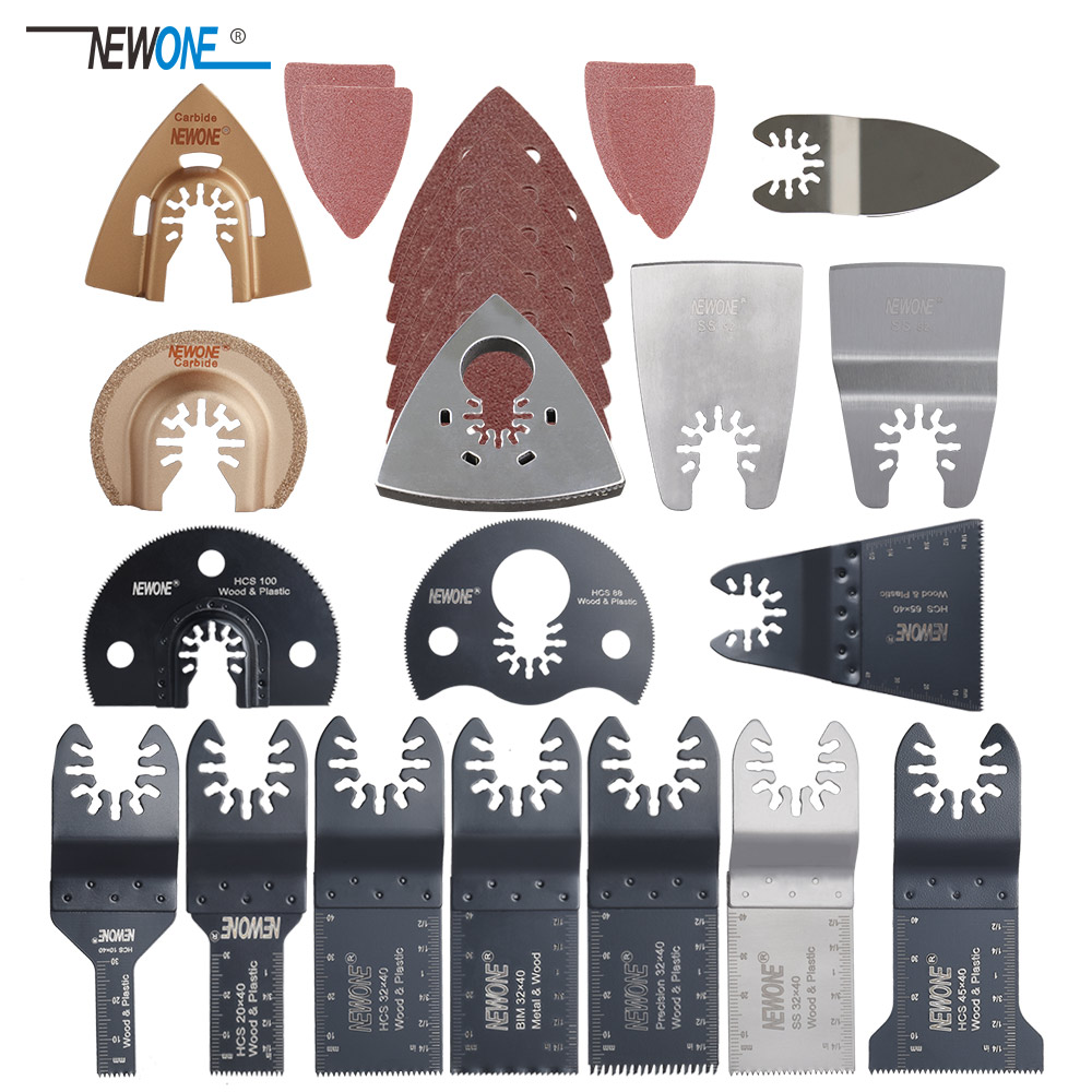 Newone 66 Pack Wood Metal Oscillating Multitool Quick Release Saw Blades Fit For Fein Black & Decker Bosch Craftsman Dewalt