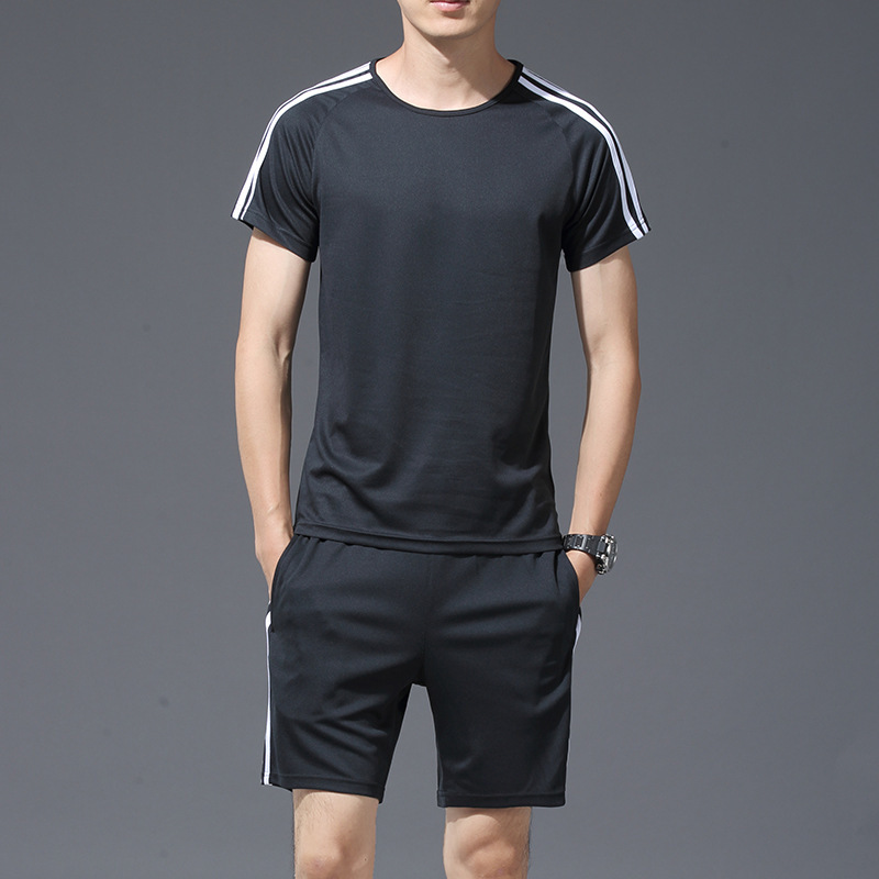 Quick-drying T-shirt Jogging Suits Fitness Two-Piece Set MEN'S Short Sleeve Shorts
