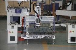 Chiny Jinan AccTek nowy projekt gorąca sprzedaż kontroler Mach3 chłodzenie wodne ploter cnc AKG6012