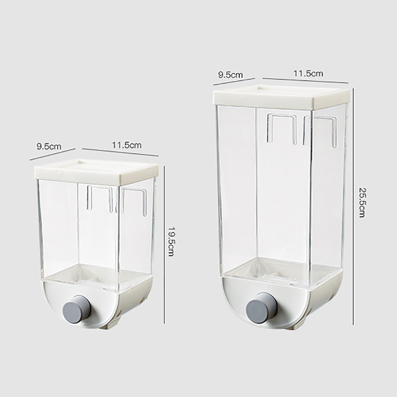 1500ML Automatic Dry Food Cereal Dispenser Large Capacity Wall Mounted Plastic Storage Box Kitchen Grain Container Storage Tank