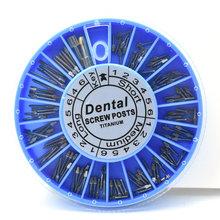 Dental wkręty stomatologiczne śruba tytanowa wkręty stomatologiczne 120 sztuk materiały stomatologiczne dla dentysty narzędzie stomatologia tanie tanio iflydent CN (pochodzenie) 56 7g Umiarkowane Wybielanie zębów titanium
