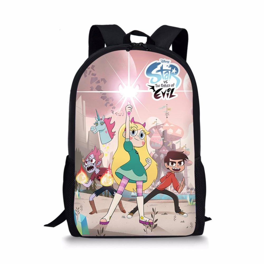 School Bags Star Vs The Forces Of Evil Backpack SchoolBags For Children Girls Boys Orthopedic Packbag Mochila Escolar Book Bag
