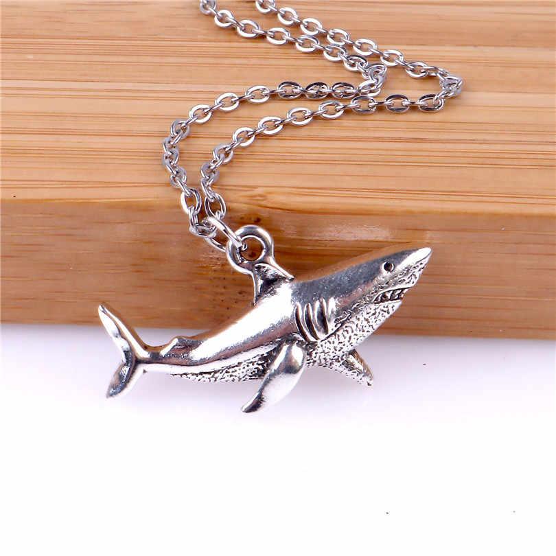 Shark Jewelry Gifts for Shark Lovers Shark Charm Bronze Hammerhead Shark Pendant for Men and Women Shark Necklace for Men and Women