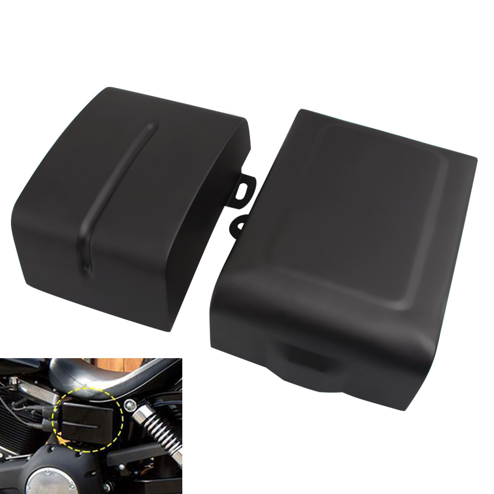 Gloss Black Battery Top Cover for Harley FXD Dyna Super /& Wide Glide 97-05