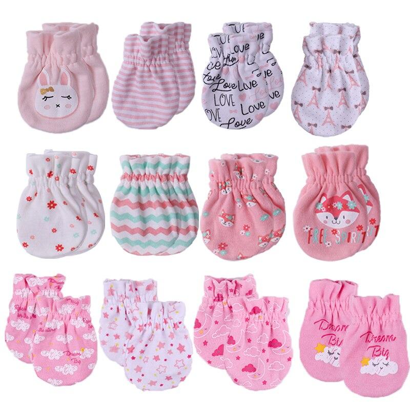 Варежки для новорожденных мальчиков и девочек, зимние хлопковые перчатки для детей 0-6 месяцев, всесезонные