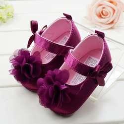 Милая мягкая детская обувь принцессы с красным цветком для девочек; обувь для малышей; 3 размера на выбор; # E