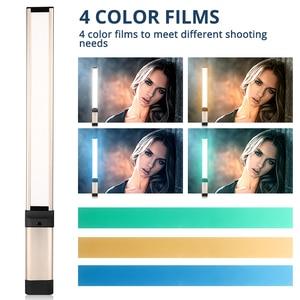 Image 4 - Travor led luz de vídeo fotografia LA L2 mais fino 7mm cri 95 3200 k 5500 k com três cor filtro verde azul laranja