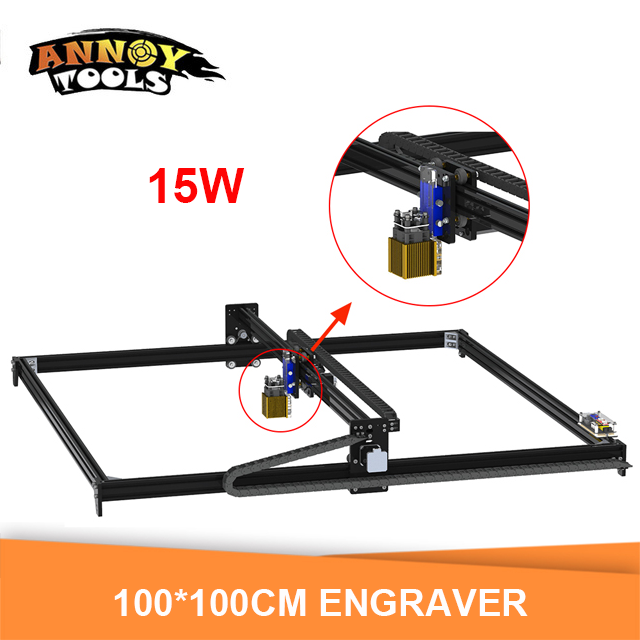 15w 15000mW Laser Engraver,Laser Cutter,100cm*100cm Working Area Laser Engrave Machine With TTL/ PWM Laser Cutting Machine