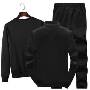 Image 2 - 3Pcsชุดแฟชั่นผู้ชายฤดูใบไม้ร่วงชุดกีฬาSportwear Casual Sweatshirt + ขนแกะเสื้อ + กางเกงกีฬาชุดสูทplusขนาด
