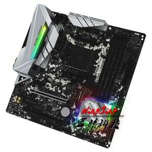 Image 4 - Scheda madre AM4 del doppio canale del Max 64G della legenda dellacciaio di (b450m micro atx AMD B450 DDR4 3466 (OC)MHz M.2 USB3.1