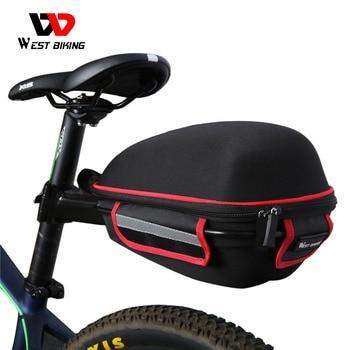 WEST BIKING Bicycle Rear Bag Portable Rain Cover Cycling Tail Extending Saddle Reflective Waterproof Bike