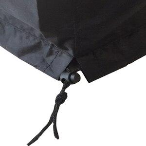 Image 5 - กลางแจ้งแก๊สกันฝน PVC คุณภาพสูงระเบียงกลางแจ้งเตาตาราง,สีดำ Patio Garden เฟอร์นิเจอร์ Fire P
