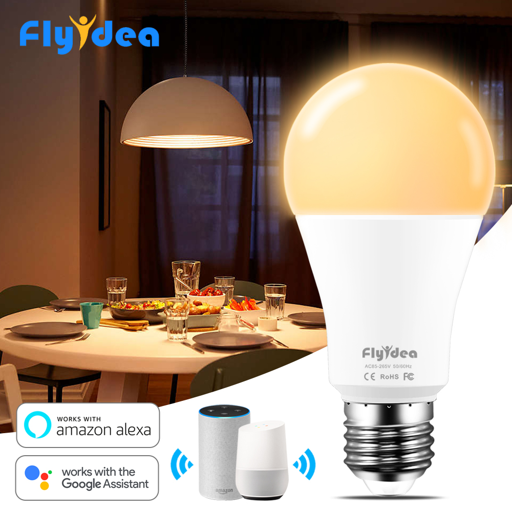 15W E27 Smart LED Bulb For WIFI Control Equal To 90W Incandescent Lamp Warm Or Cool White Light Compatible Alexa And Google Home