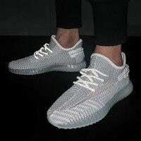 Summer Sports Men's Flying Weaving Mesh Air permeable Slim Leisure Shoes Male Off White Shoes Men Dress Shoe