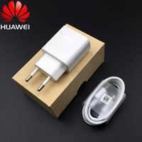Original Huawei QC 2.0 chargeur rapide adaptatif 18W adaptateur de Charge rapide câble de USB type C pour honour 9 play nova 3 4 mate 20 lite p9