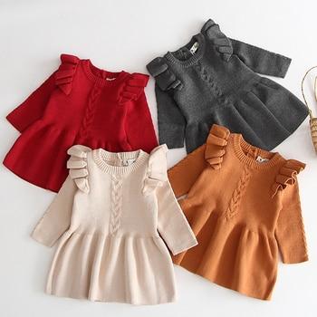Winter Knitted Dress Autumn Toddler Girl Dresses For Female Babies Infant Warm Dress Knitted Sweater Kids Dresses For Girls 1