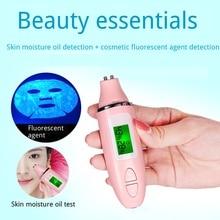 ЖК-цифровой измеритель влажности кожи, тестер для ухода за кожей, Анализатор содержания влаги и масла, обнаружение флуоресцентной ручка с агентом анализатор кожи