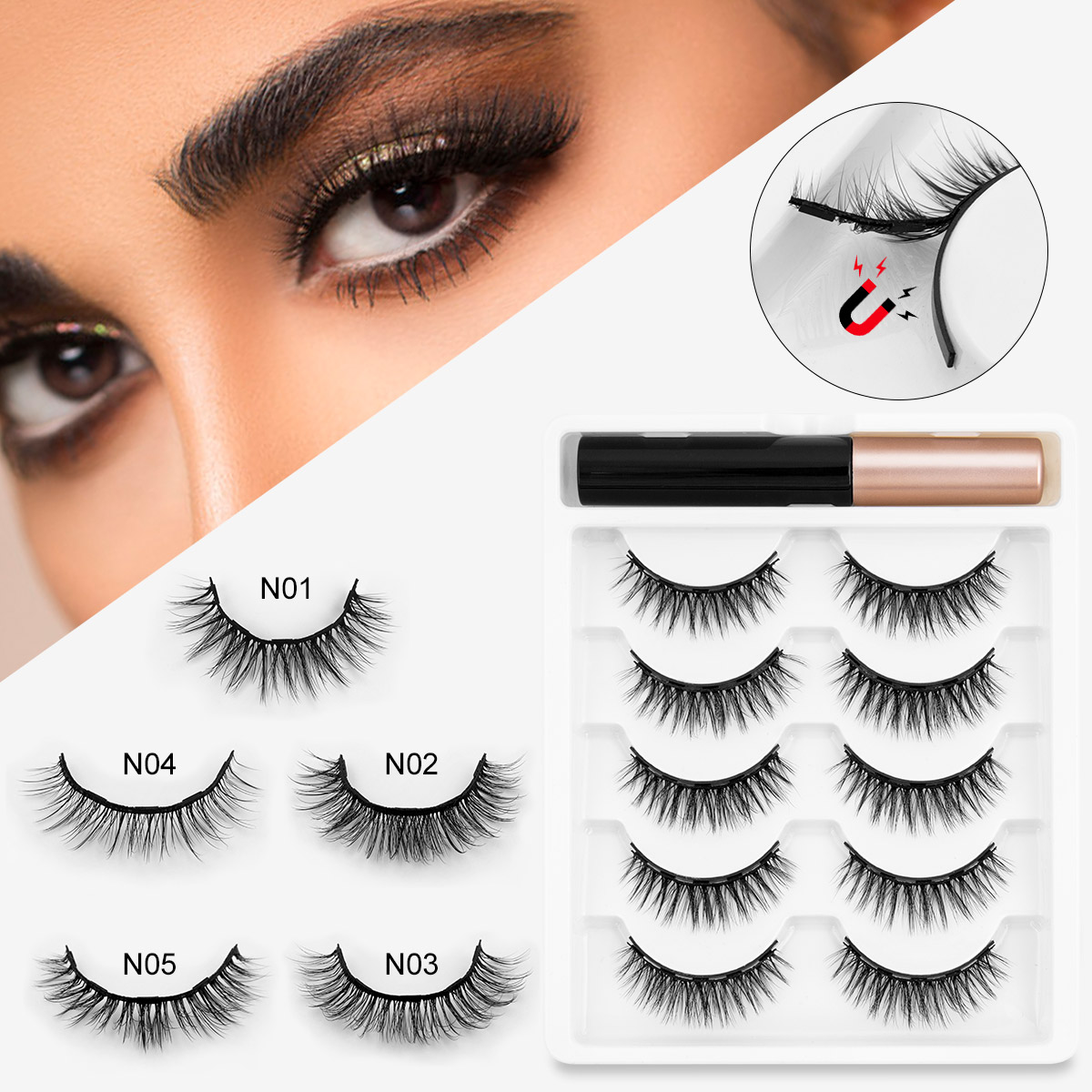 Best Top Lashes Short Natural Near Me And Get Free Shipping A656