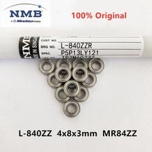20pcs/100pcs original NMB high speed bearing L-840ZZ 4x8x3mm MR84ZZ precision miniature ball bearings 4mm*8mm*3mm