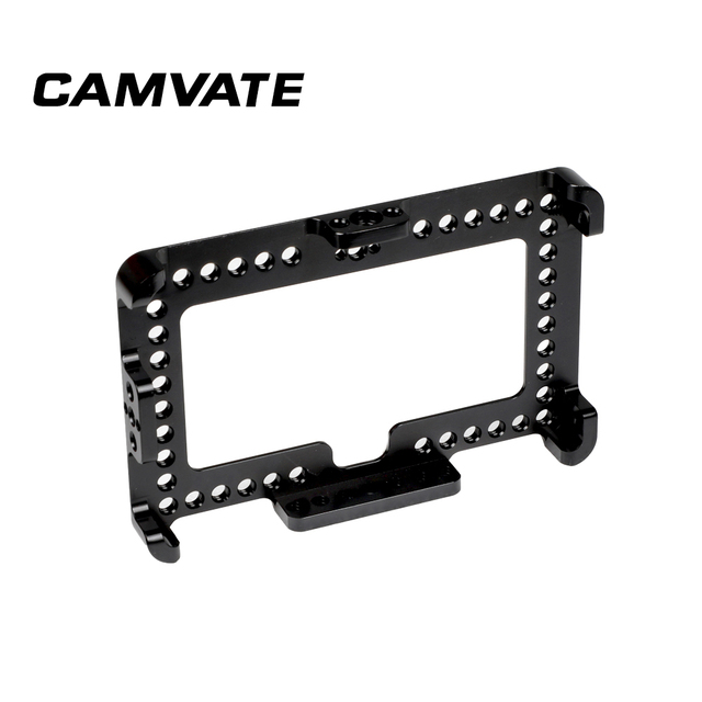 """CAMVATE On camera Monitor Cage Bracket For FeelWorld F6 Plus 5.5"""" Display  C2497"""