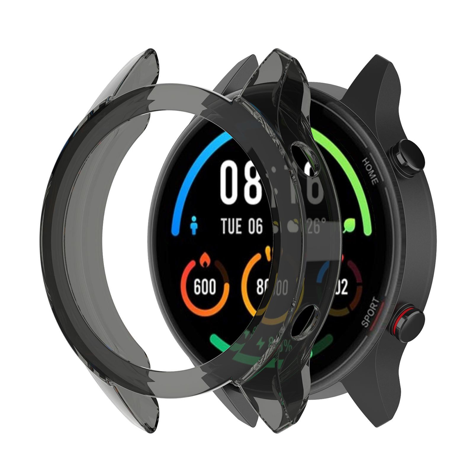 Rondaful защитный чехол для цветных часов Xiaomi, высококачественный чехол из ТПУ, тонкий бампер для умных часов Xiaomi Mi Color Watch