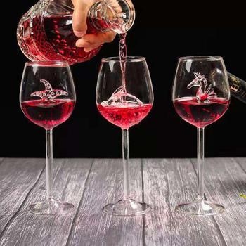 300ml caballito de mar/Estrella de mar/delfín copa de cristal de vino tinto copas de jugo copa de champán copa de fiesta Artículos de Bar de cocina