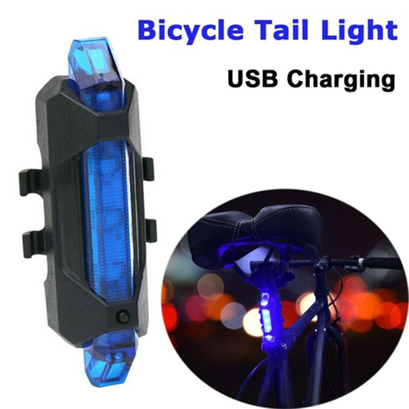 For Bycicle Bike Bicycle Tail Light Bright Usb Bike Light Cycling Lamp Road BikeTaillight Warn Lights Bicycle Accessories