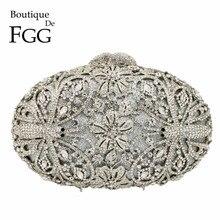 Boutique De FGG Libelle Muster Frauen Mode Kristall Abend Handtaschen und Geldbörsen Braut Diamant Kupplung Hochzeit Geldbörse
