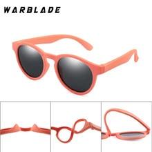 WarBLade Colorida Flexível Crianças Óculos De Sol Meninos Meninas Rodada óculos de Sol Óculos Polarizados Criança Do Bebê Óculos Óculos de Silicone UV400